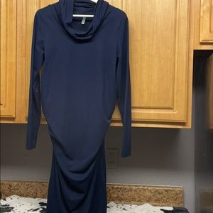 Ladies Mother To Be Maternity Turtleneck Dress